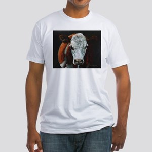 Hereford Cattle Fitted T-Shirt