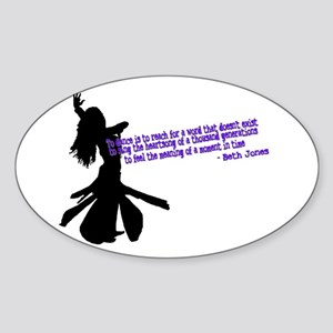 to dance Oval Sticker