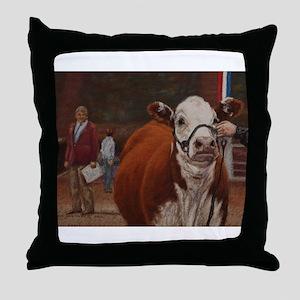 Heifer Class - Hereford Throw Pillow