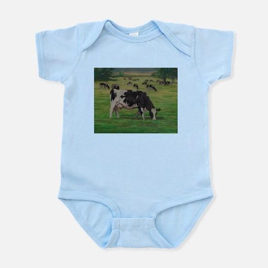 Holstein Milk Cow in Pasture Infant Bodysuit