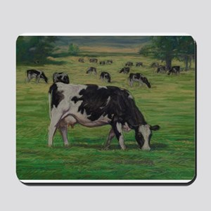 Holstein Milk Cow in Pasture Mousepad