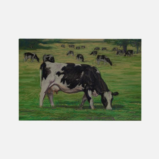 Holstein Milk Cow in Pasture Rectangle Magnet