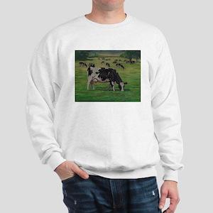 Holstein Milk Cow in Pasture Sweatshirt