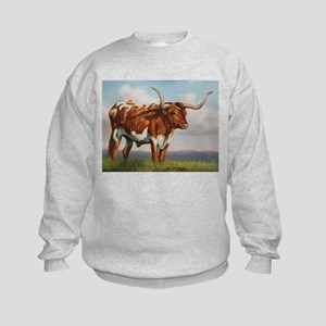 Texas Longhorn Steer Kids Sweatshirt