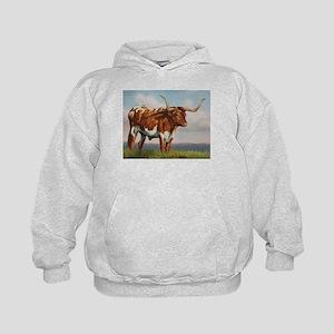 Texas Longhorn Steer Kids Hoodie