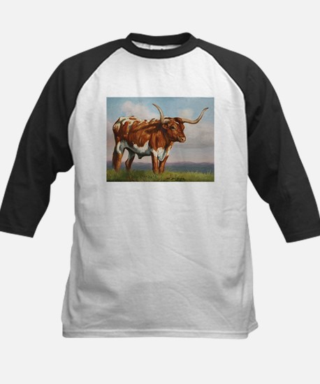 Texas Longhorn Steer Kids Baseball Jersey