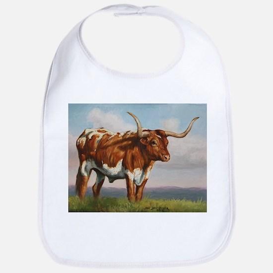 Texas Longhorn Steer Bib