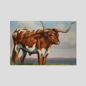 Texas Longhorn Steer Rectangle Magnet
