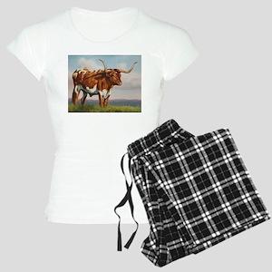 Texas Longhorn Steer Women's Light Pajamas