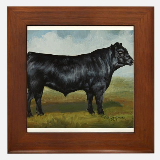 Black Angus Framed Tile