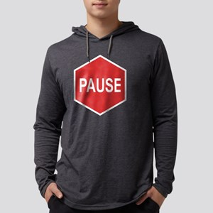 pause-T Mens Hooded Shirt