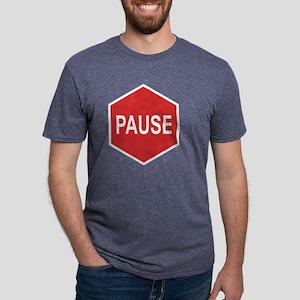 pause-T Mens Tri-blend T-Shirt