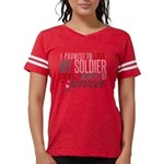 I Promise to Love my Soldier Womens Football Shirt