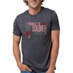 I Promise to Love my Soldie Mens Tri-blend T-Shirt