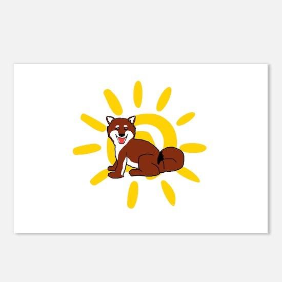 Shiba Sun iPad 2 White Postcards (Package of 8)