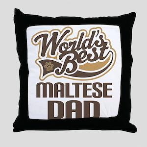 Maltese Dad Dog Gift Throw Pillow