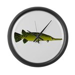 Longnosed Gar Large Wall Clock