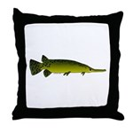 Longnosed Gar Throw Pillow
