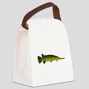 Longnosed Gar Canvas Lunch Bag