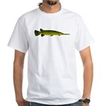 Longnosed Gar White T-Shirt