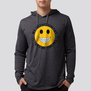 My Orthodontist Keeps Me Smiling Mens Hooded Shirt