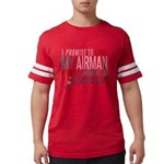 I Promise to love my Airman Mens Football Shirt