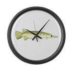 Shortnosed Gar Large Wall Clock
