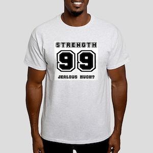 Level 99 Strength, Jealous? Ash Grey T-Shirt
