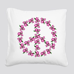 Peace Sign Square Canvas Pillow