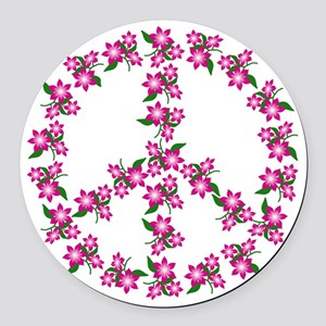 Peace Sign Car Magnet / Pink