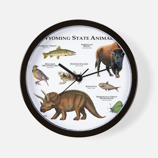 Wyoming State Animals Wall Clock