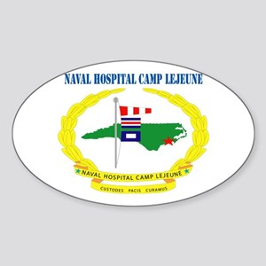 Naval Hospital Camp Lejeune with Text Sticker (Ova