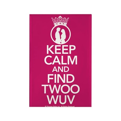 Keep Calm and Find Twoo Wuv Rectangle Magnet
