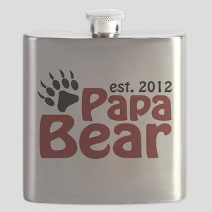 Papa Bear Claw Est 2012 Flask