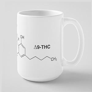 Delta 9 THC Molecule Large Mug