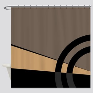 Tan And Gray Majestic Shower Curtain