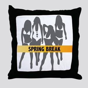 Spring Break Girls Throw Pillow