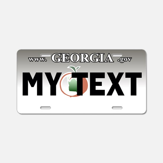 Georgia 2005-2008 aluminum license plate replica