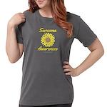 Sarcoma Awareness Ribbon Sunflower Womens Comfort