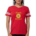 Sarcoma Awareness Ribbon Sunflower Womens Football