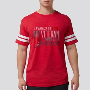 I Promise to love my Veteran Mens Football Shirt