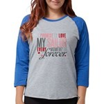 I Promise to love my Sailor Womens Baseball Tee
