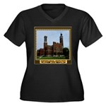 Greensburg Indiana Women's Plus Size V-Neck Dark T