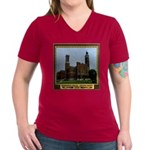 Greensburg Indiana Women's V-Neck Dark T-Shirt