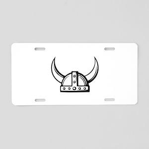 Viking Helmet Aluminum License Plate