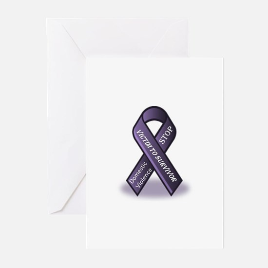Domestic Violence Victim to Suvivor Greeting Cards