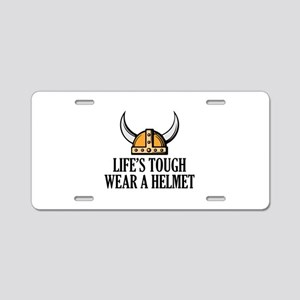 Wear A Helmet Aluminum License Plate