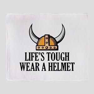 Wear A Helmet Throw Blanket
