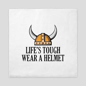 Wear A Helmet Queen Duvet