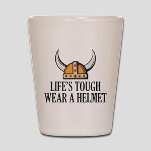 Wear A Helmet Shot Glass